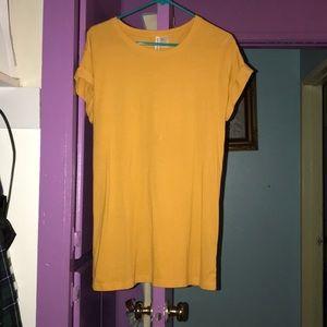 Yellow basic dress